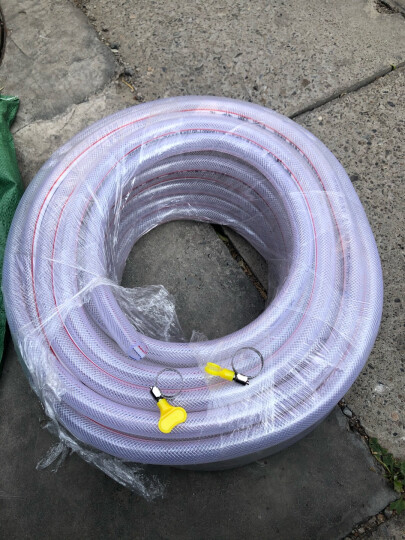 月娥 水管软管塑料家用浇花浇菜透明防冻水管自来水管蛇皮管4分6分1寸软水管 1寸普通(整卷100米价格) 白色 晒单图