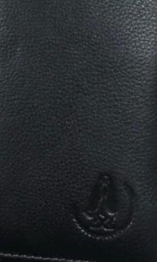 暇步士(Hush Puppies)钱包长款男士优质双色头层牛皮钱夹票夹男友父亲生日礼物 黑色 晒单图