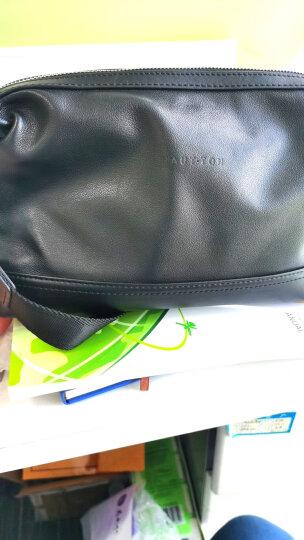 皓顿(HAUTTON) 钱包男时尚潮流男士钱包多功能大容量长款手包手抓包商务休闲手拿包男11 咖色SZB78 晒单图