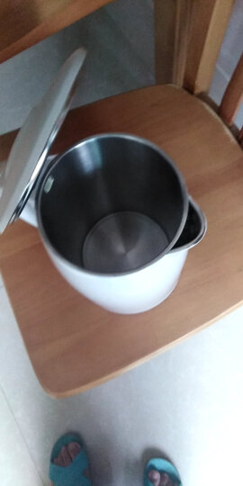 美的(Midea)电水壶热水壶电热水壶304不锈钢1.7L容量双层防烫暖水壶开水壶全钢无缝烧水壶WH517E2b 晒单图