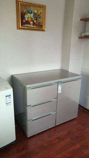 尊贵(ZUNGUI) BCD-210CV 210升 卧式冰箱家用抽屉柜式小型双门橱柜式嵌入式矮电冰箱 酷金 晒单图