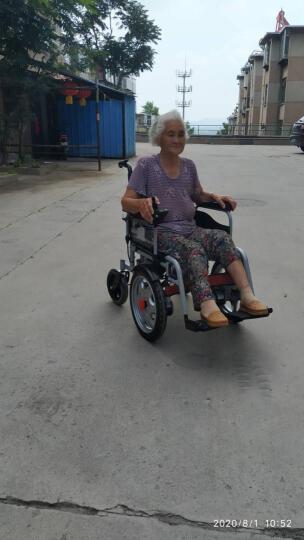 BEIZ 贝珍电动轮椅车老年人残疾人电动代步车 轻便可折叠智能全自动代步车升级纪念款 铝合金车架锂电25安 晒单图