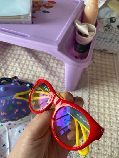 P8866儿童防蓝光防辐射眼镜小学生线上网课防护眼镜看手机保护眼睛平光护目镜 大红色P8801-B2 晒单图