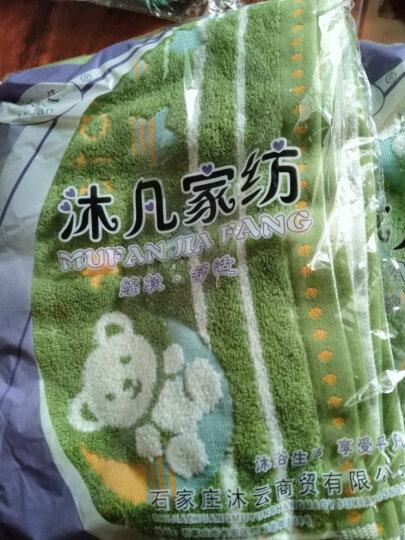 沐凡 枕巾 纯棉加厚 一对2条装柔软透气全棉卡通情侣枕头巾礼品 星星小熊绿一对 50*75cm 晒单图
