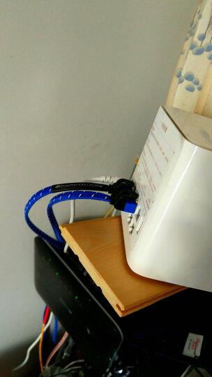 万级(OFNPFTTH) 发烧级网线 千兆路由器办公电脑家装工程高速电信光纤宽带网络提速连接线 Cat7类扁平万兆七类网络跳线游戏网线 经典白 3米 晒单图