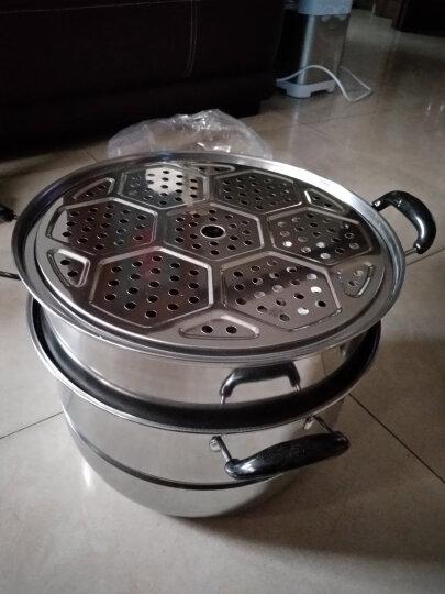 美家厨帮(MeiJiaChuBang) 30cm加厚蒸锅不锈钢3层三层蒸笼屉蒸馒头蒸鱼煤气电磁炉通用 晒单图