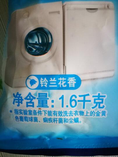 雕牌 除菌除螨天然皂粉/洗衣粉(家庭装)1.6kg 天然椰油提炼 低泡易漂 清新花香 晒单图