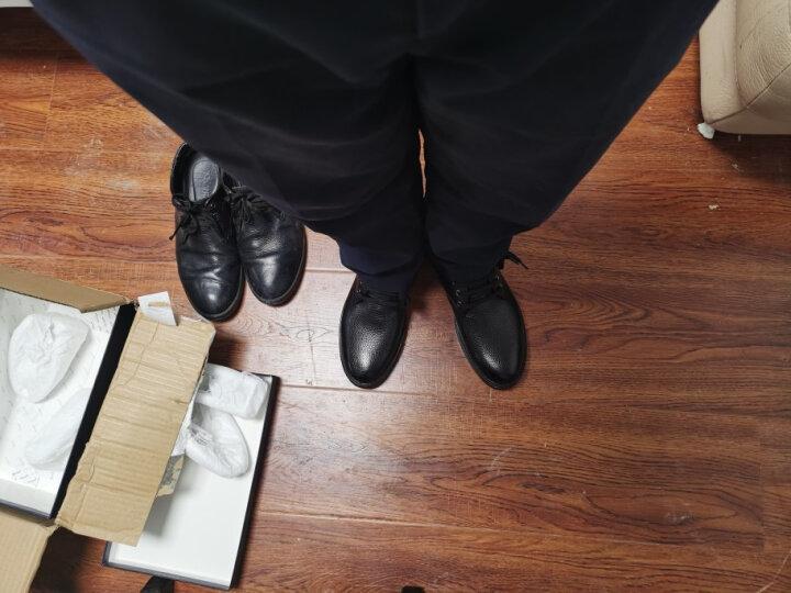 奥康男鞋春季新款男士休闲皮鞋男韩版真皮内增高休闲户外鞋系带商务皮鞋鞋子男 棕色四季款 41 晒单图