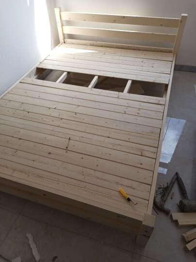 新尚美家单人床实木床松木成人床双人床1.2米1.5米1.8米实木简约床 原木无抽 1.5米*2米(每天50张限量抢购价) 晒单图