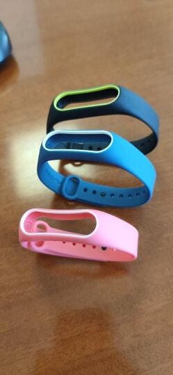 Gumei 适用于小米手环2腕带 表带配件2代替换带非皮革金属 粉色白 晒单图