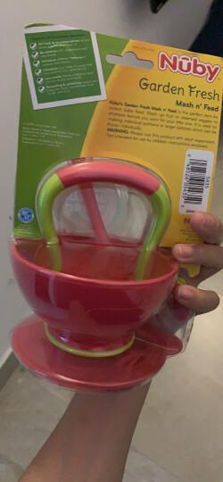 努比(Nuby)儿童餐具辅食碗 婴儿碗 宝宝研磨碗机器带勺子 新生儿餐具套装-红色 美国品牌 晒单图
