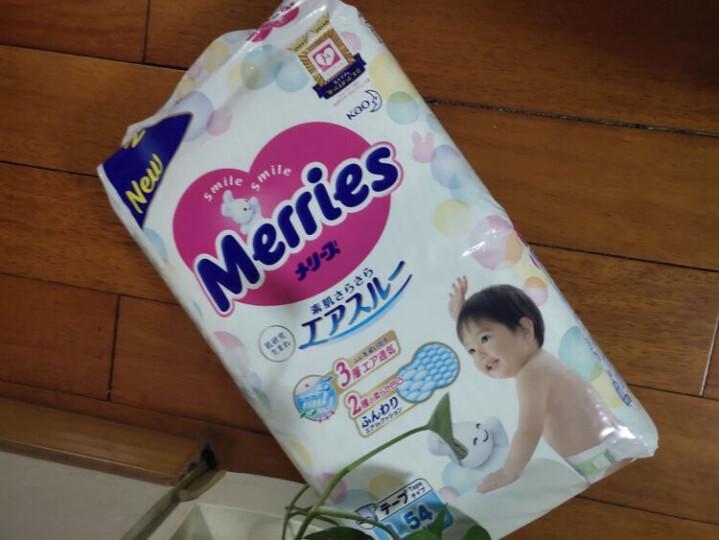 花王妙而舒Merries婴儿纸尿裤 L54片(9-14kg)大号尿不湿(日本进口) 晒单图