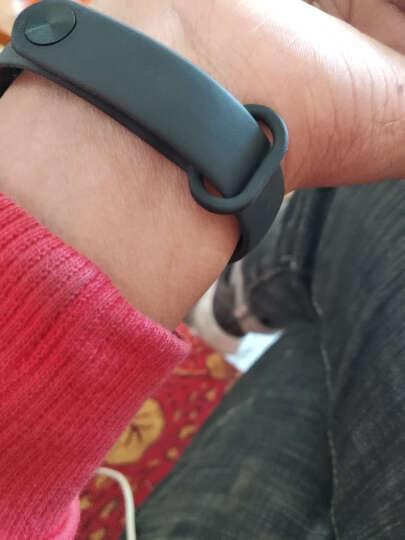 智能手环 运动手环男女计步器心率睡眠监测来电提醒华为VIVO OPPO苹果三星通用 黑色 晒单图