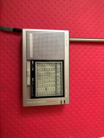 德生(Tecsun)R-9702 收音机 音响 全波段 老年人 半导体 四六级英语听力 高考考试 校园广播(金属黑) 晒单图