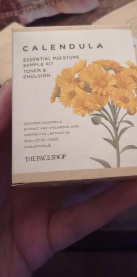 菲诗小铺(The Face Shop)金盏花清润保湿水150ml(化妆水 爽肤水 保湿水 柔肤水 舒缓保湿  赋予亮泽) 晒单图