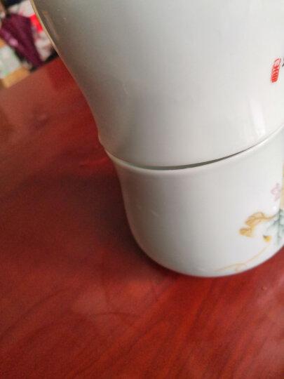陶沁泉 景德镇 正宗骨瓷 礼品瓷 大茶杯 陶瓷茶杯 会议杯 办公杯 水杯 带盖 竹叶清香320毫升 晒单图