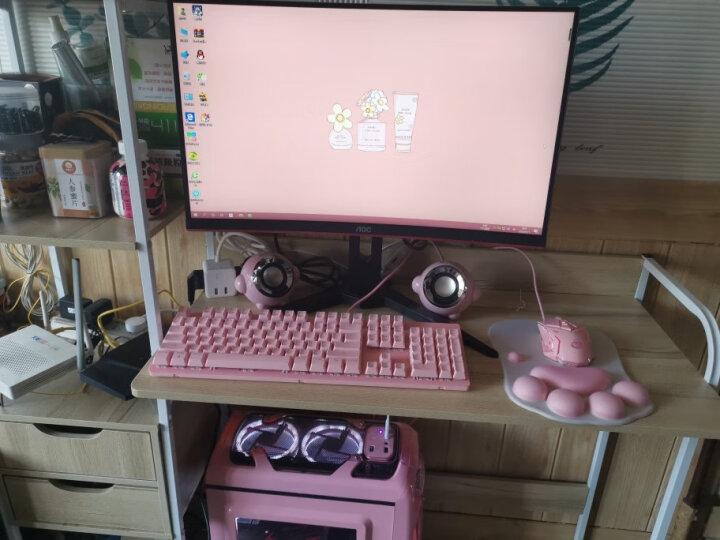 本手(BASIC)F3音箱2.0声道迷你便携USB台式笔记本手机电脑音响 粉色 晒单图