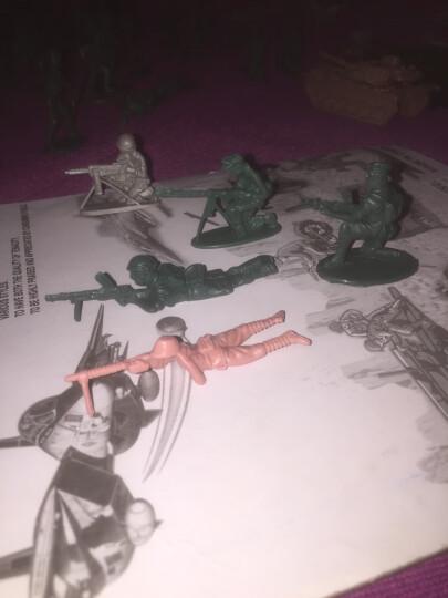 小兵人玩具军事塑料小人打仗沙盘100人 二战绿色沙色混色兵人士兵战争场景儿童玩具兵 二战四国兵 升级版 晒单图
