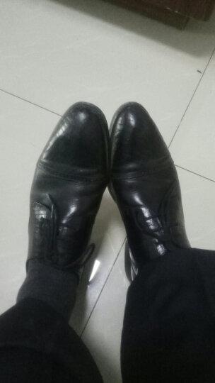 设计师女鞋 MIO米奥女鞋 冬季羊绒皮革扣饰中跟女短靴M175604607 咖色 36 晒单图