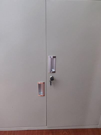 帆江文件柜铁皮柜子档案柜资料柜办公柜四门书柜A4多层文件柜财务凭证柜带锁储物柜矮柜 分双节 晒单图