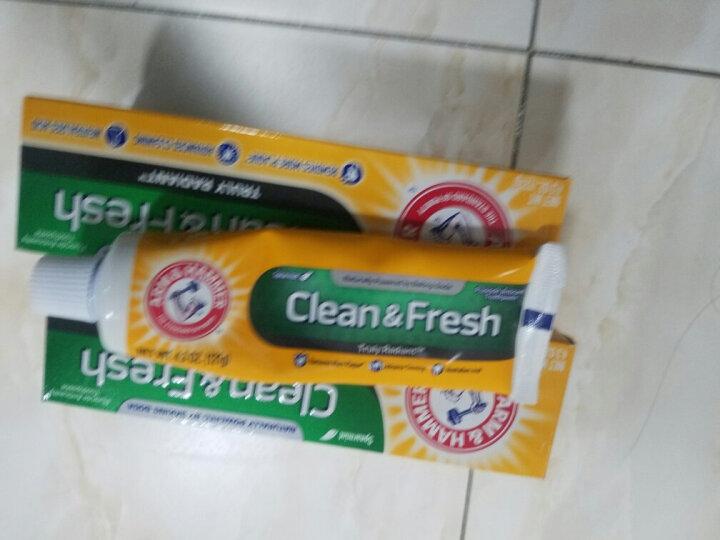 艾禾美(ARM&HAMMER)小苏打牙膏白牙去烟渍去黄牙健齿优护牙膏178g 美国进口 晒单图