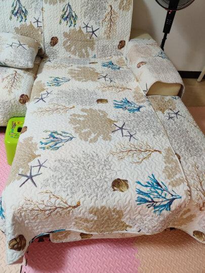 钟爱一生 全棉沙发垫套装纯棉沙发套罩全包坐垫子四季防滑沙发巾全盖组合卡通简约时尚 斜纹全棉 密彩黄 43*43cm抱枕套不含芯 晒单图