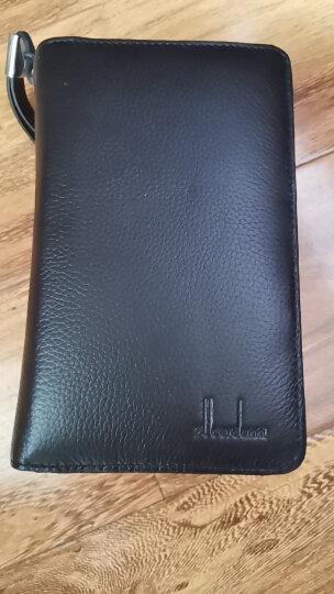 佐尔丹妮 卡包男士多卡位名片卡夹拉链真皮大容量卡片包银行卡套 A81F黑色 晒单图