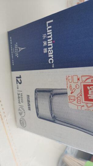乐美雅 Luminarc 烈酒金杯吞杯 无铅玻璃白酒杯套装 小洋酒杯 34ml 12只装 15222 晒单图