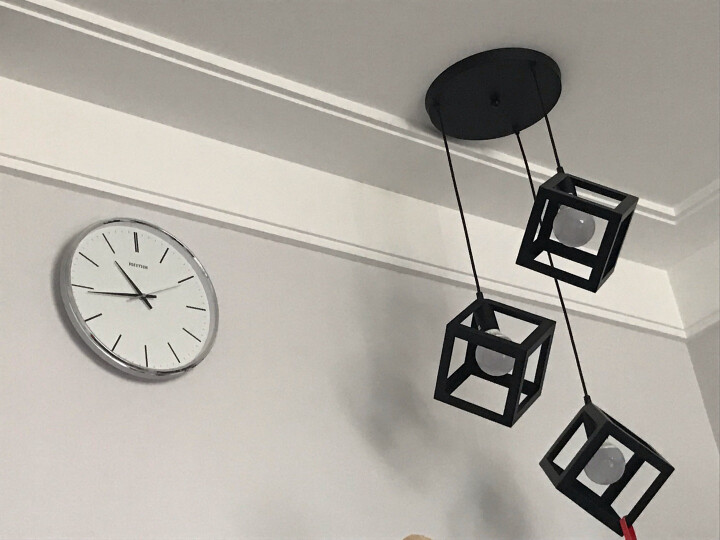 丽声(RHYTHM)静音机芯石英挂钟现代简约时尚创意扫秒挂表客厅卧室办公室时钟 36cm树脂玻璃cmg400nr03D 晒单图