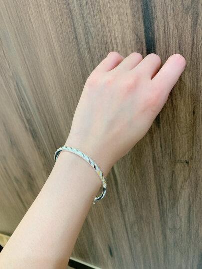 唯一银手镯女士款满天星镯子999足银白银首饰品情侣时尚年轻款简约光面实心手环送女友生日礼物25±1g配证书 晒单图