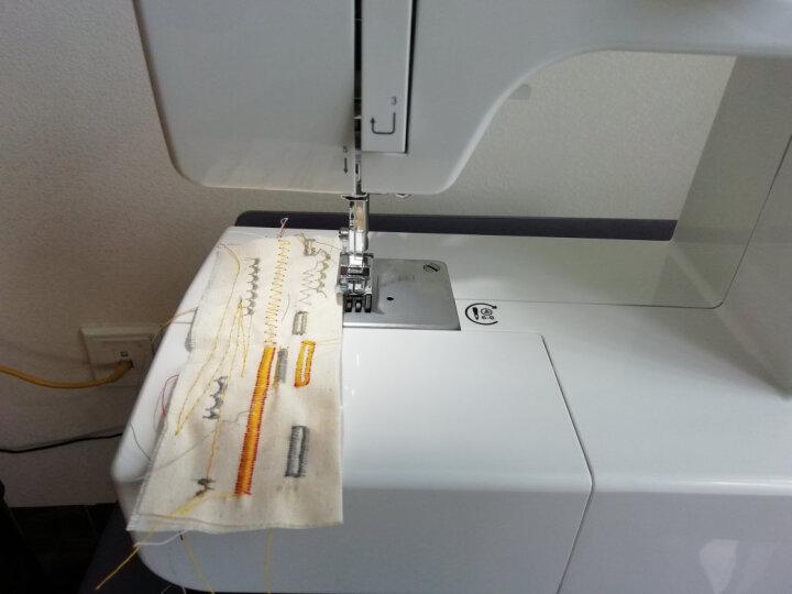 胜家SINGER 家用电动多功能缝纫机1408吃厚锁边锁眼送扩展台 晒单图