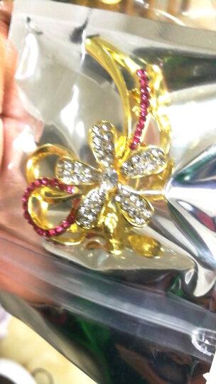 清晨的星星 时尚胸针男女士胸花水晶别针领针丝巾扣 彩色花朵 5.1X4.5cm 晒单图