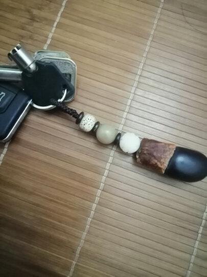 御琉宫 汽车钥匙扣环紫檀木钥匙链挂件装饰品菩提锁匙包大众别克本田奔驰宝马车钥匙扣男士 虎眼石钥匙扣-简约款 晒单图