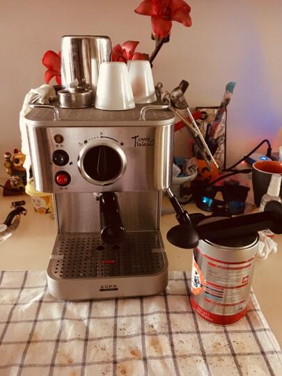 灿坤(EUPA)咖啡机 家用意式半自动咖啡机办公室用 19帕水泵 不锈钢机身 tsk-1819A 银色 晒单图