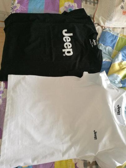 【特惠款】JEEP/吉普 短袖T恤男 圆领夏款男士休闲修身圆领微弹Polo衫 无货 黑色Z9 175/92B(XL)52 晒单图