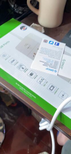 奥睿科(ORICO)XCS-4A3U 新国标3C认证 USB智能充电插座/插线板/接线板/排插/插排 总控开关 1.5m线长 白 晒单图