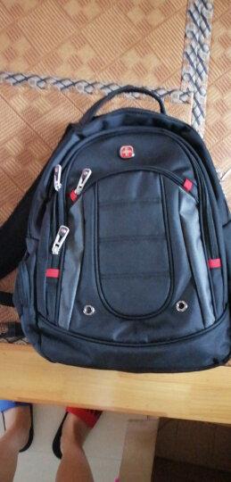 十字勋章瑞士双肩包男15.6英寸笔记本电脑包女商务多功能大容量出差背包旅行包防泼水休闲学生CR9001黑色 晒单图