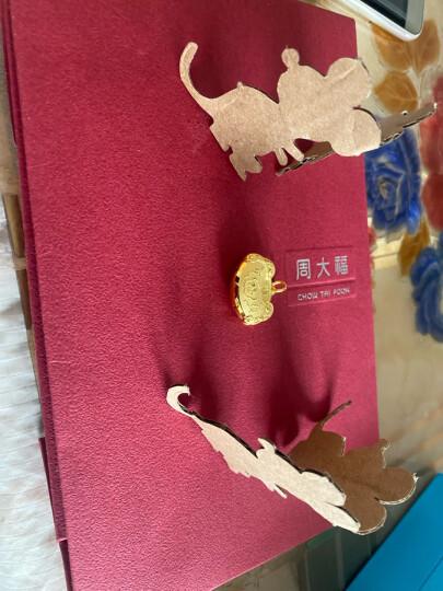 周大福 儿童首饰 宝宝百福长命锁金锁锁包 足金黄金吊坠(工费:178计价) EOF98 足金 约4.80g 晒单图