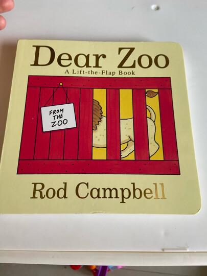 廖彩杏英文纸板书 亲爱的动物园Dear Zoo童趣绘本学前教育 晒单图
