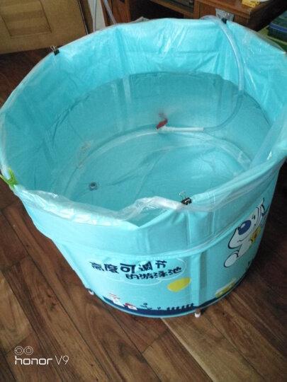 诺澳 新生幼婴儿游泳池家用 大号儿童戏水海洋球池 可调支架游泳桶免充气宝宝洗澡浴桶 80x85cm(蓝色气球款)夹棉保温-均码脖圈套餐 晒单图