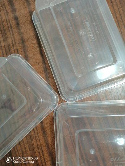美丽雅方形一次性餐盒打包盒饭盒快餐盒外卖保鲜盒750ml 20套 晒单图