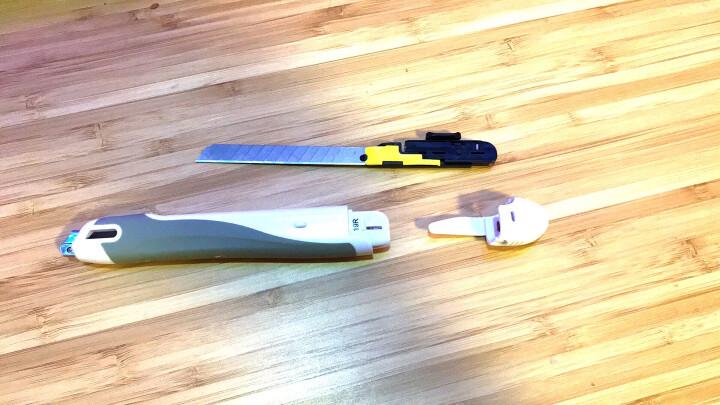 日本国誉(KOKUYO)FLANE便携式办公刀片/美工刀9*143mm 粉红 HA-S100P 晒单图
