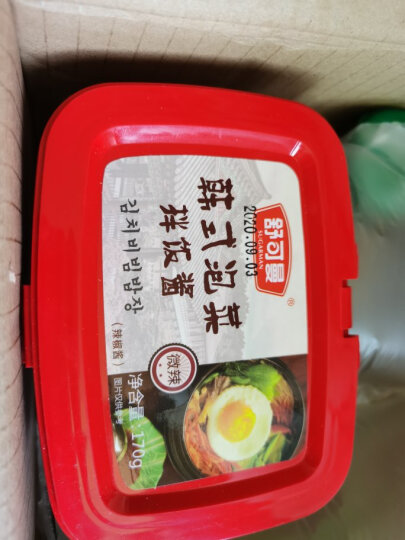 舒可曼 韩国辣酱 拌饭酱韩式泡菜 拌面辣椒酱 年糕烤肉调味酱 烧烤蘸酱 部队火锅底料 170g 晒单图