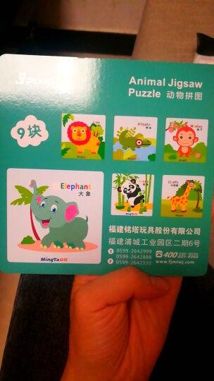 铭塔数字字母形状认知手抓板拼图拼板 儿童婴儿玩具男孩女孩宝宝积木 木制质幼儿园启蒙智力 晒单图