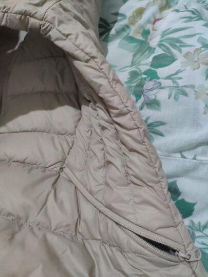 龙狮戴尔 LONSDALE羽绒服女韩版修身显瘦短款户外时尚羽绒服 粉紫色 180/XXL 晒单图