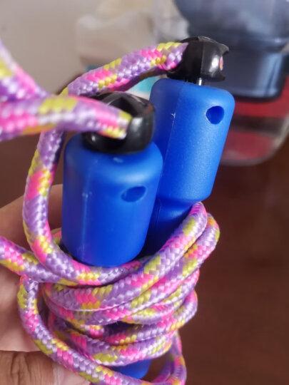 健乐轻便跳绳塑料柄可调螺旋透明绳体儿童女士学生跳绳802颜色随机 晒单图