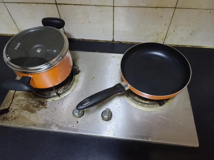 苏泊尔(SUPOR) 套装锅不粘炒锅煎锅汤锅三件套厨具燃气平底锅锅具套装 橙色 TP1612E 晒单图