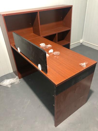 腾匠办公家具 办公家具职员办公桌电脑办公桌椅组合工作位员工位桌子简约现代隔断员工位屏风单人 面对面双人位不含椅【三色可选】 晒单图