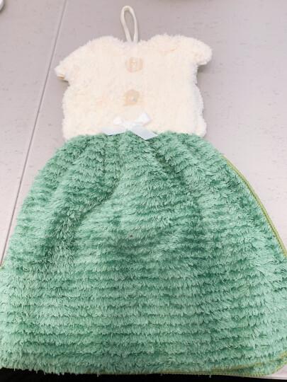 多样屋TAYOHYA挂式擦手吸水快干厨房浴室居家多用裙式雪绒擦手巾 绿色 晒单图