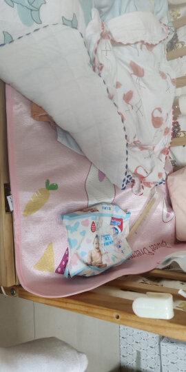 欧淘婴儿凉席冰丝 儿童凉席透气凉枕套装 宝宝床幼儿园午睡席子夏季 大眼萌兔  凉席+凉枕套装 120*60cm 晒单图